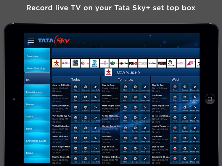 Tata Sky Mobile – for iPad screenshot-4