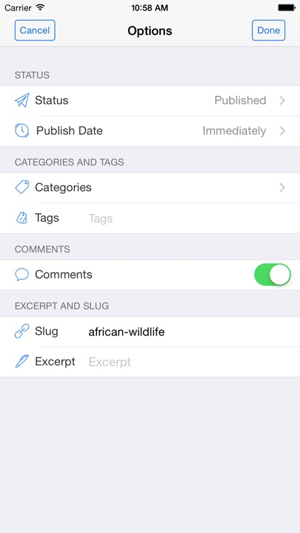 BlogTouch Pro (for Wordpress Blogging) screenshot-4