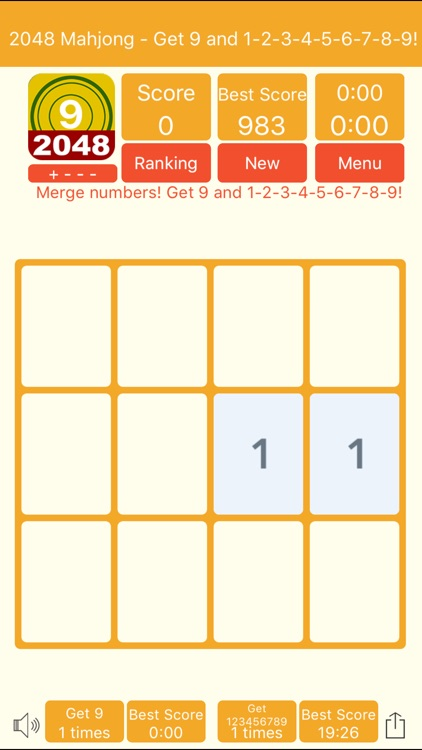 2048 Mahjong - Get 9 and 1-9! screenshot-4