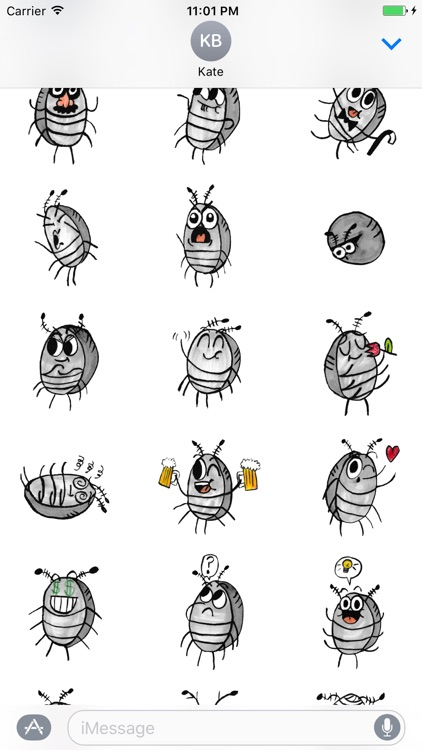 Sammy the Pillbug Stickers