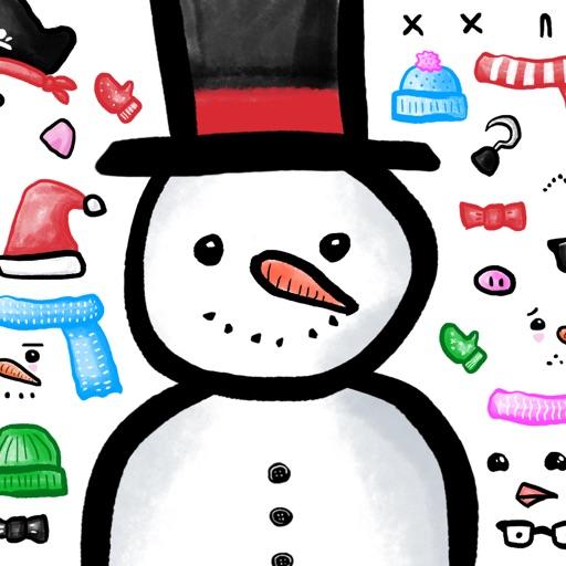 Build a Snowman Sticker Set