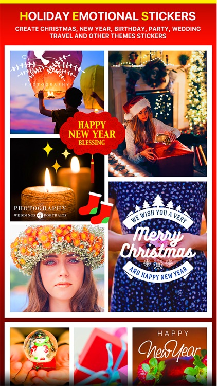 Typography - Thanksgiving, Christmas, New Year