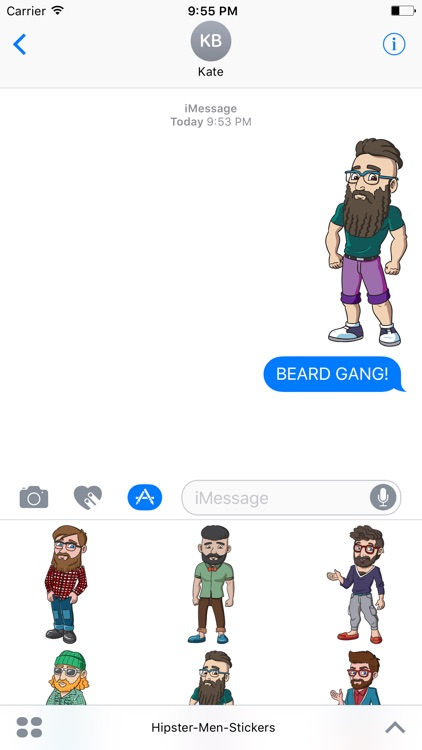 Hipster Men Stickers - Hippy Fashion Edition