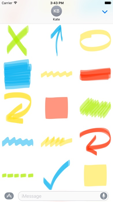 download Highlighter sticker pack - stickers for iMessage apps 1