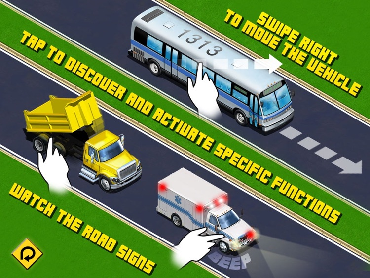 Kids Vehicles: City Trucks & Buses HD Lite screenshot-1