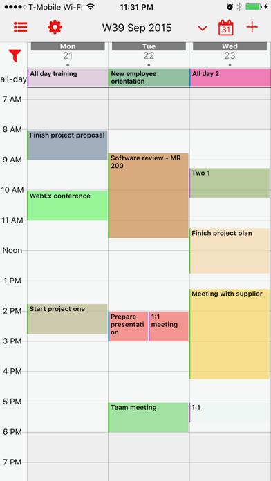 Week Calendar Proのスクリーンショット