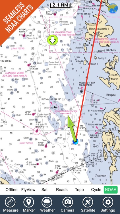Marine : Chesapeake Bay - GPS Map Navigator