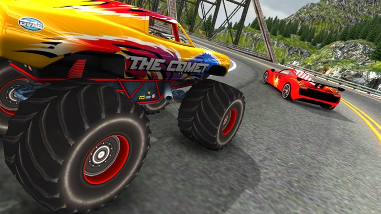 Crazy Car vs Monster Truck Racer 3D screenshot-3