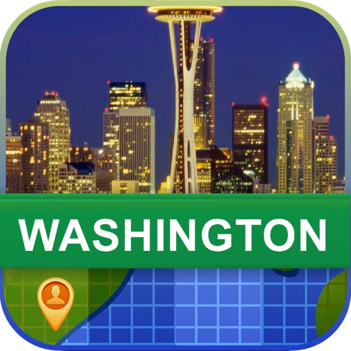 Offline Washington, USA Map - World Offline Maps icon