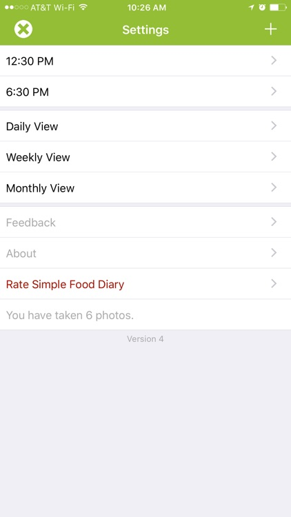 Simple Food Diary screenshot-1