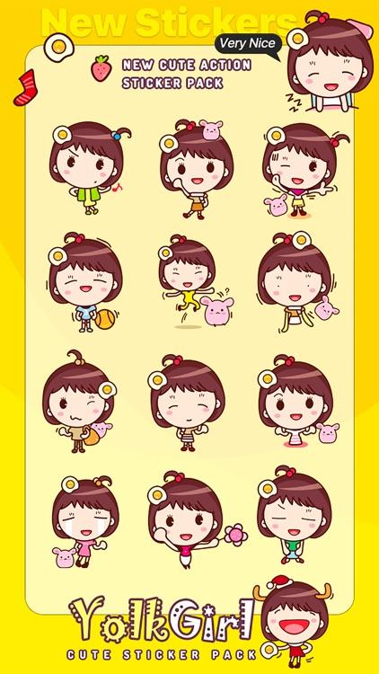 Yolk Girl Sticker - Cute Message Sticker Emoji screenshot-3