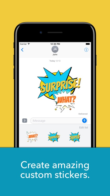Speech bubbles - Create custom text stickers screenshot-0