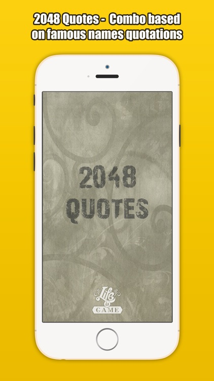 2048 Quotes - Combo based on famous names quotes screenshot-4
