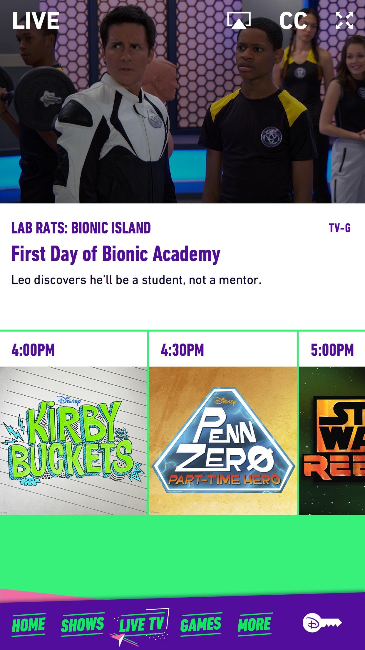 Disney XD – Watch Full Episodes, Movies & Live TV Screenshot