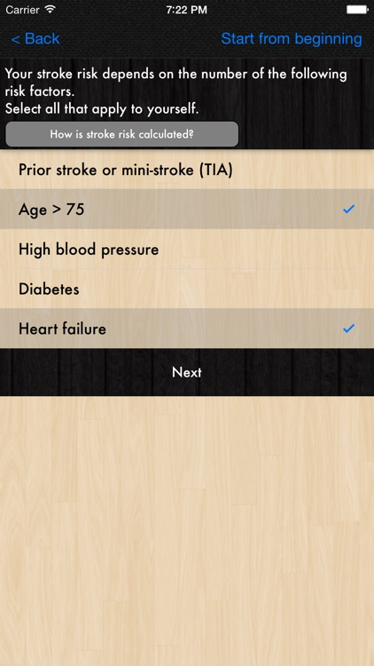 Atrial Fibrillation Patient Decision Tool screenshot-2