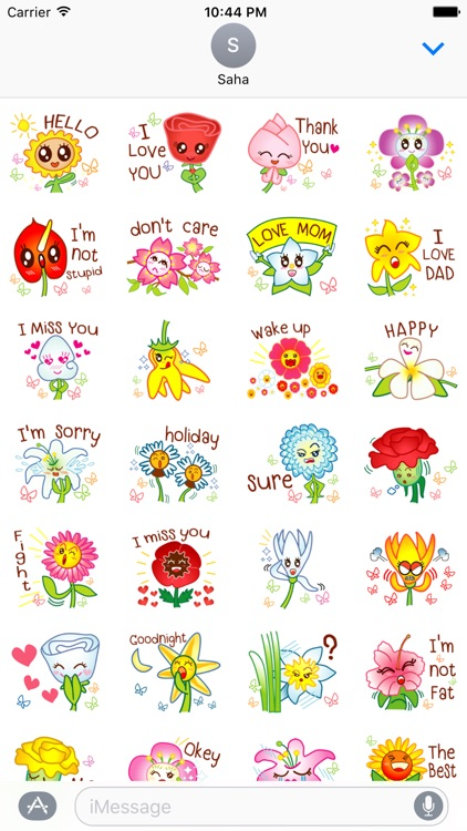 Say It With Flower Stickers