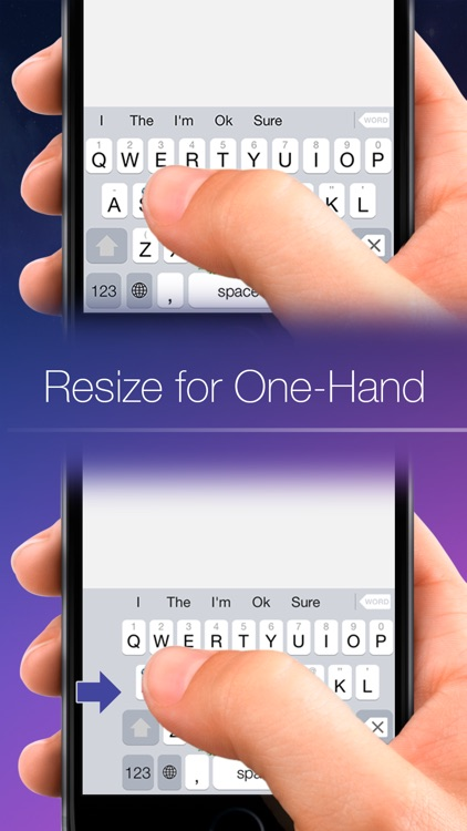 Blink Keyboard-one-hand, fast
