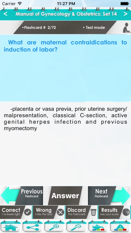 Manual of Gynecology & Obstetrics 1500 Exam Quiz