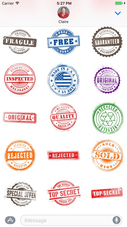 Rubber Stamp Stickers
