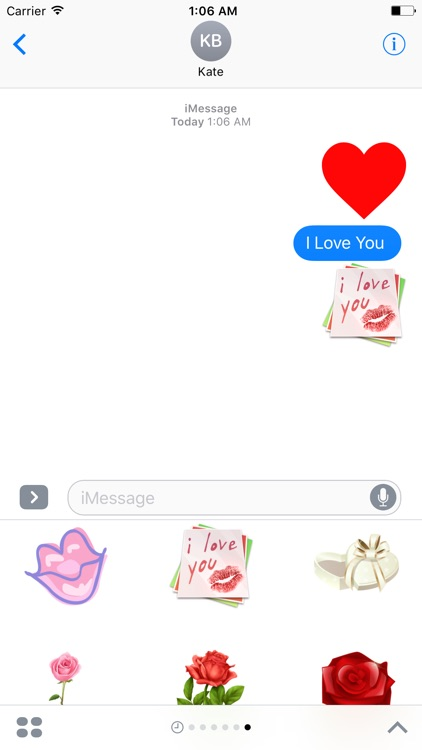 Love And Romance Stickers For iMessage