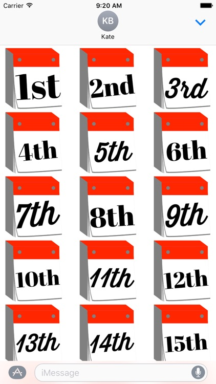 DayCals: Ordinal Perpetual Calendar Stickers screenshot-2