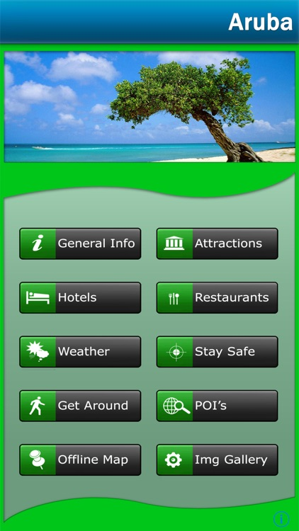 Aruba Island offline Map Travel Guide screenshot-0