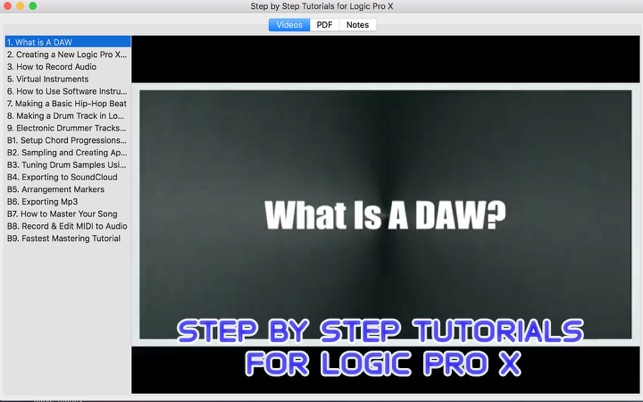 Step By Step Tutorials For Logic Pro X On The Mac App Store