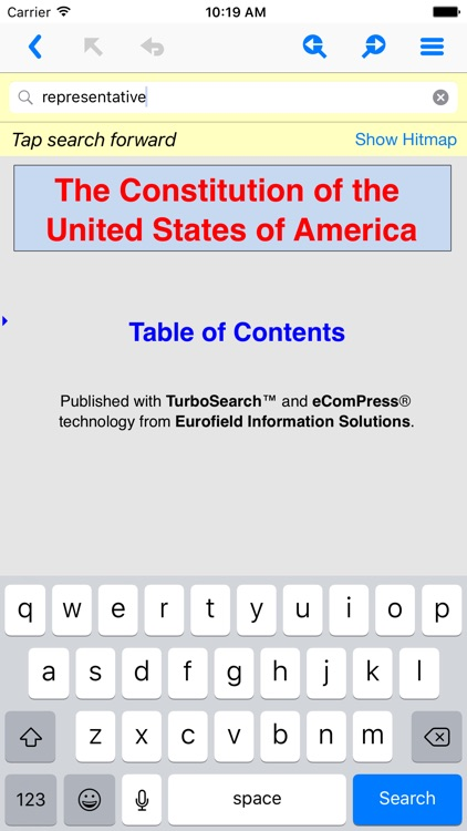 US Constitution TurboSearch