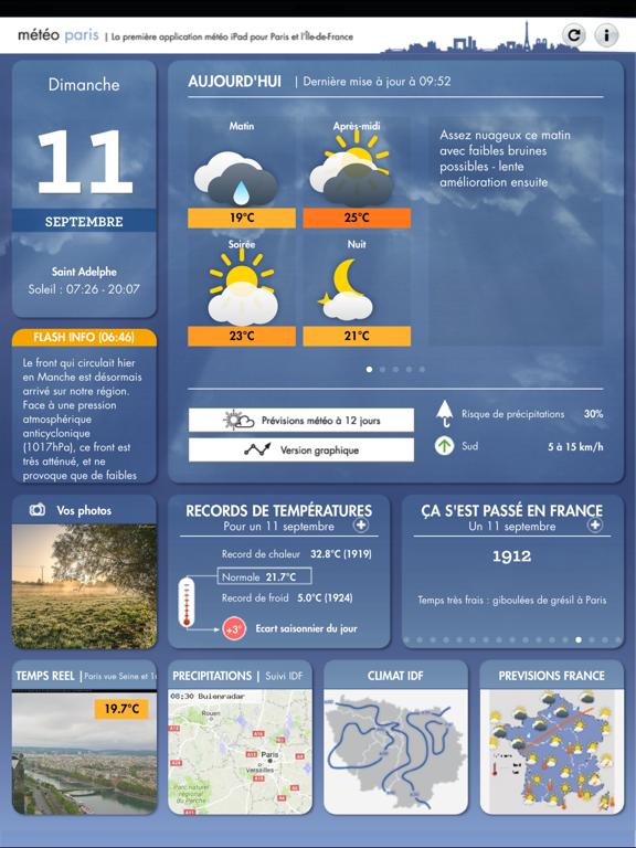 Météo Paris screenshot