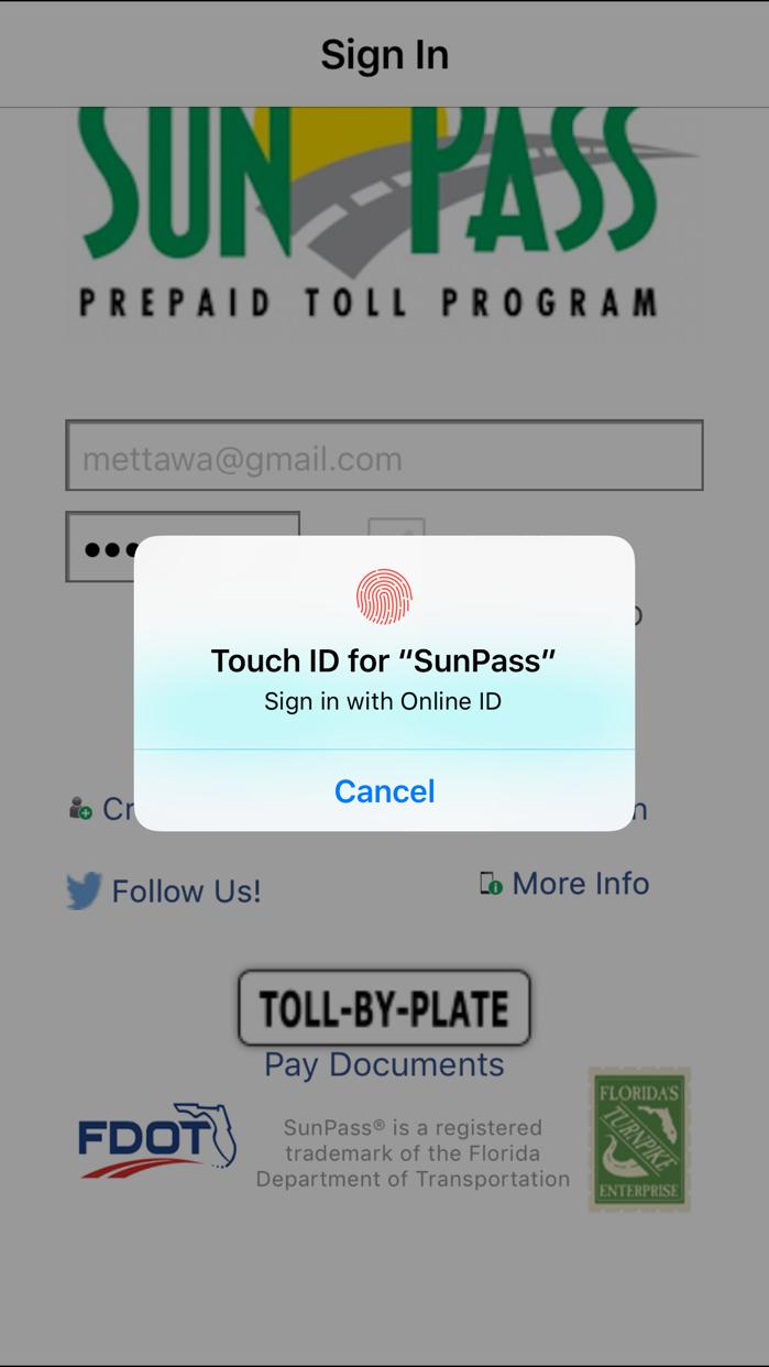 SunPass Screenshot