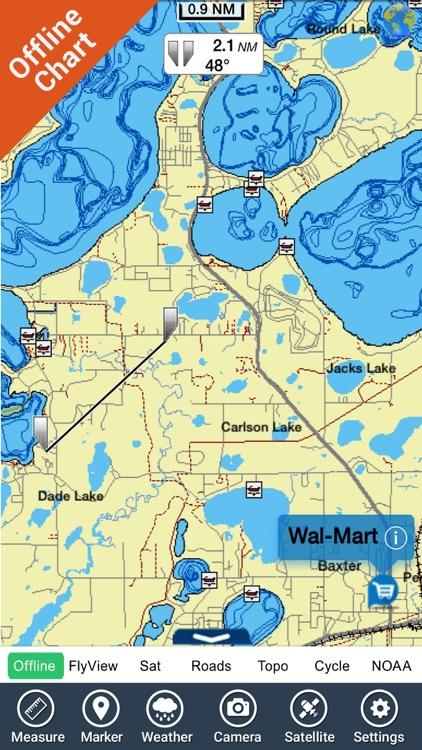 Lake Guntersville map HD GPS fishing charts