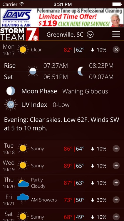 WSPA Weather - Radar and forecasts screenshot-3