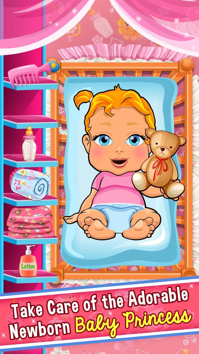 Princess Baby Salon Doctor Kids Games Free Screenshot