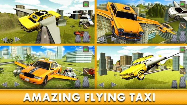 Flying Cab Yellow Taxi Flight Simulator F16 Carang screenshot-4