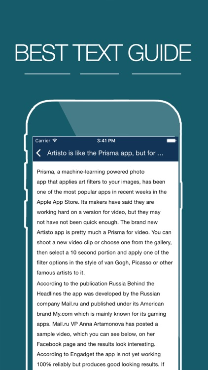 Guide for Artisto – Video and Photo Editor
