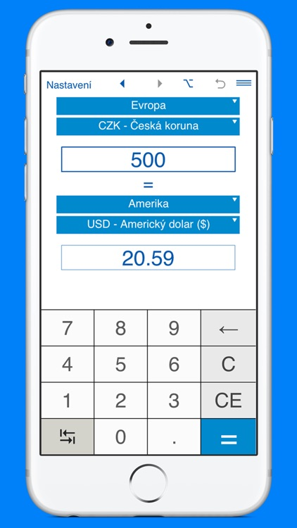 Kalkulačka pro převod měn