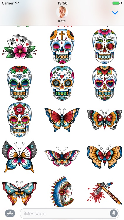 Tattoo set - Stickers for iMessage