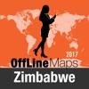 Zimbabue mapa offline y guía de viaje