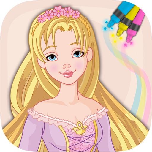 T l charger princesse raiponce colorier livre - Princesse raiponce a colorier ...