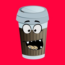 Ugly Coffee Cup Stickers - Emoji Face Compilation
