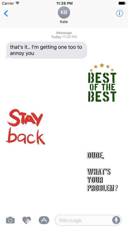 QUOTEs II Stickers for iMessage screenshot-4