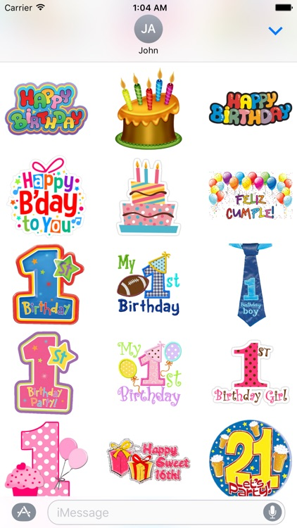 Happy Birthday & Celebration Stickers for iMessage screenshot-3