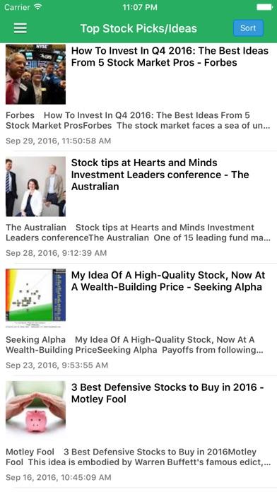 Stock Market Today Free - Latest News & Updates Screenshot on iOS