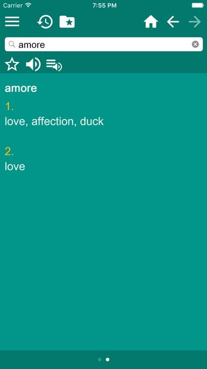 English - Italian Dictionary (free) screenshot-3