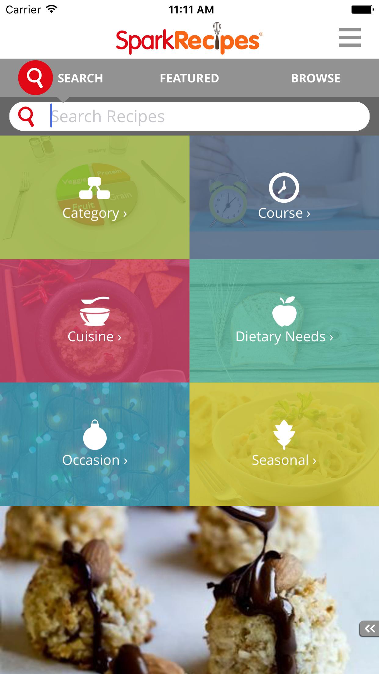 Healthy Recipes - SparkRecipes Screenshot