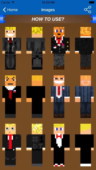 Skins For Minecraft PE PC Donald Trump Edition IOS App Download - Skins para minecraft pe de dragon ball z