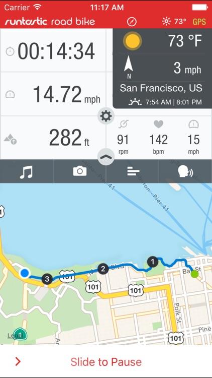 Runtastic Road Bike GPS Cycling Route Tracker PRO
