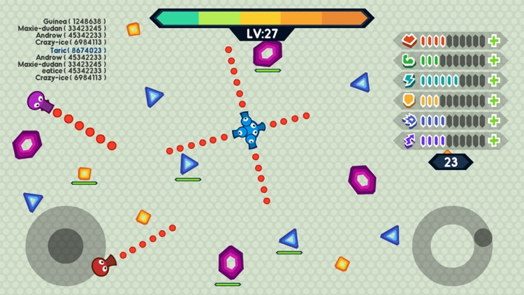 Tank.IO War - Free Tank games of snake screenshot-1