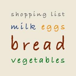 Shopping List - Grocery List