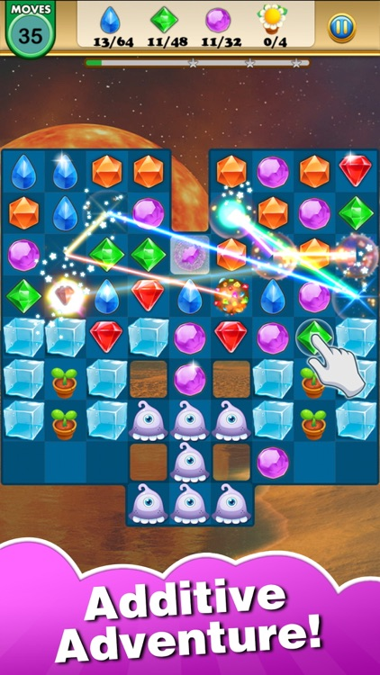 Jewel Heroes King - dash up charm geometry gems